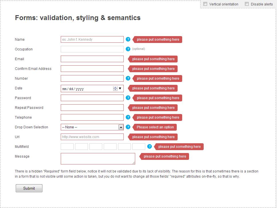 Form Validation Code Digest